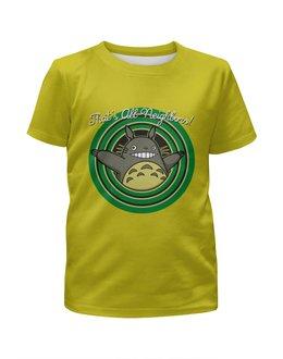"""Футболка с полной запечаткой для девочек """"Мой сосед Тоторо ( My Neighbor Totoro )"""" - аниме, тоторо, totoro, мой сосед тоторо"""