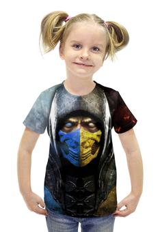"""Футболка с полной запечаткой для девочек """"Mortal Kombat"""" - игры, скорпион, mortal kombat, мортал комбат, суб-зиро"""