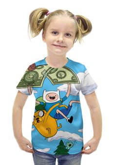 """Футболка с полной запечаткой для девочек """"Время Приключений (Adventure Time)"""" - adventure time, время приключений"""