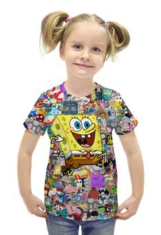 """Футболка с полной запечаткой для девочек """"Спанч Боб"""" - спанч боб, spongebob squarepants"""