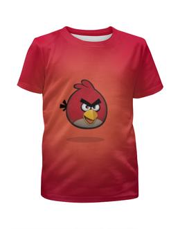 """Футболка с полной запечаткой для девочек """"Angry Birds"""" - мультфильм, рио, rio, angry birds, злые птицы"""