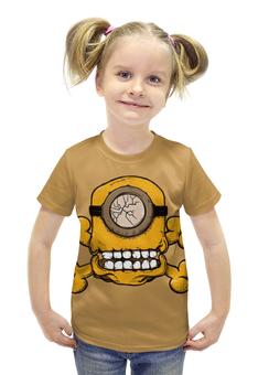 """Футболка с полной запечаткой для девочек """"Skull Minion"""" - skull, череп, миньоны, миньон, minion"""