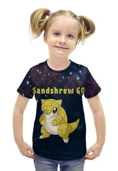 """Футболка с полной запечаткой для девочек """"PoKeMon Sandshrew"""" - pokemon, покемон, sandshrew, сэндшру"""