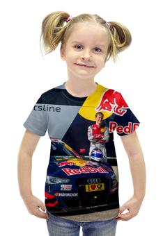 """Футболка с полной запечаткой для девочек """"DTM 2016 Mattias Ekstrom"""" - racing, audi, dtm, ekstrom, moscowraceway"""