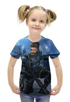 """Футболка с полной запечаткой для девочек """"Big Boss (Metal Gear Solid)"""" - metal gear solid, big boss, биг босс"""