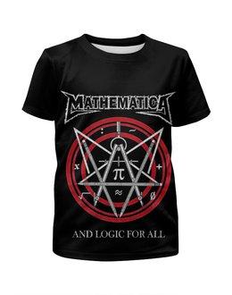 """Футболка с полной запечаткой для девочек """"Metallica (Mathematica)"""" - heavy metal, metallica, металлика, хэви метал, thrash metal"""