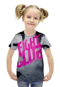 """Футболка с полной запечаткой для девочек """"Бойцовский Клуб (Fight Club)"""" - бойцовский клуб, fight club"""