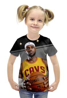 """Футболка с полной запечаткой для девочек """"LeBron James"""" - баскетбол, nba, леброн джеймс, cavaliers"""