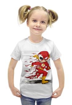"""Футболка с полной запечаткой для девочек """"Flash (The Flash)"""" - flash, молния"""