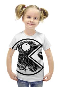 """Футболка с полной запечаткой для девочек """"Pac-man"""" - арт, ретро, pacman, аркада, barreljumpers"""