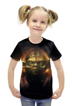 """Футболка с полной запечаткой для девочек """"Йода (Yoda)"""" - star wars, yoda, звездные войны, йода, стар варс"""