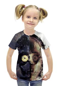 """Футболка с полной запечаткой для девочек """"C-3PO"""" - star wars, звездные войны, стар варс, р2д2д, ситрипио"""