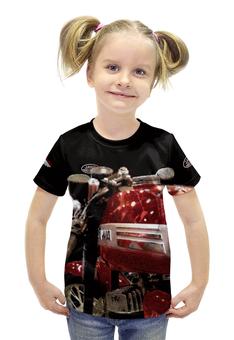 """Футболка с полной запечаткой для девочек """"Мотоцикл JAWA"""" - мотоцикл ява, с явой, яваолд, яваклуб, ява нахаляву"""