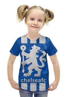 """Футболка с полной запечаткой для девочек """"Chelsea (Челси) """" - челси, chelsea"""