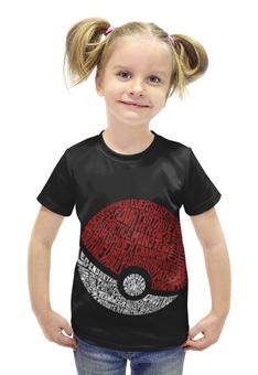 """Футболка с полной запечаткой для девочек """"покемон (Pokémon)"""" - pokemon, покемон, покемоны"""