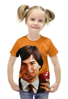 """Футболка с полной запечаткой для девочек """"Стив Джобс (Apple)"""" - apple, iphone, steve jobs, pixar"""
