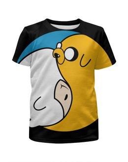 """Футболка с полной запечаткой для девочек """"Adventure Time / Время Приключений"""" - время приключений, adventure time, финн, джейк"""