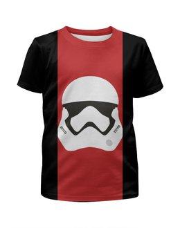 """Футболка с полной запечаткой для девочек """"Star Wars stormrooper/Звездные Войны Штурмовик"""" - арт, звездные войны, starwars, клон, штурмовик"""