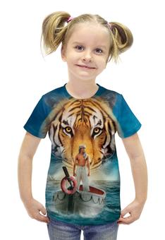 """Футболка с полной запечаткой для девочек """"Жизнь Пи"""" - природа, тигр, приключения, life of pi"""