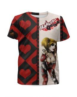 """Футболка с полной запечаткой для девочек """"Харли Квинн (Harley Quinn)"""" - batman, джокер, бэтмен, харли квинн"""