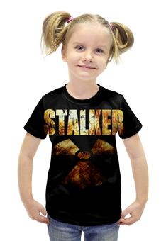 """Футболка с полной запечаткой для девочек """"STALKER!!!"""" - сталкер, радиация, stalker, survival, выживание"""