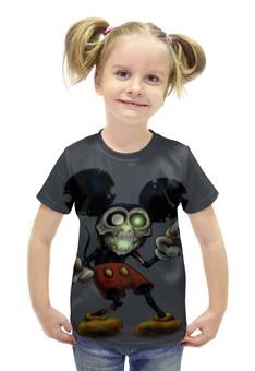 "Футболка с полной запечаткой для девочек ""Mickey Mouse Zombie"" - zombie, зомби, микки маус, mickey mouse, арт дизайн"