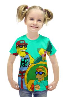 """Футболка с полной запечаткой для девочек """"Simpsons"""" - simpsons, homer simpson, krusty, duffmen"""