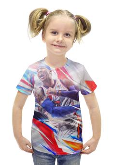 """Футболка с полной запечаткой для девочек """"Баскетболист (НБА)"""" - nba, нба"""