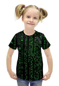 """Футболка с полной запечаткой для девочек """"Матрица"""" - матрица, matrix, нео, neo"""