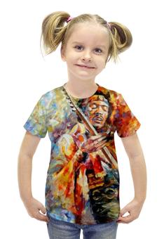 """Футболка с полной запечаткой для девочек """"Джими Хендрикс (Jimi Hendrix)"""" - jimi hendrix, джими хендрикс"""