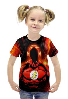 """Футболка с полной запечаткой для девочек """"The Flash """" - flash, флэш, быстрейшийчеловекназемле"""