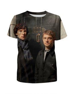 """Футболка с полной запечаткой для девочек """"Sherlock Holmes"""" - sherlock, шерлок, бенедикт камбербэтч"""