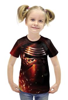 """Футболка с полной запечаткой для девочек """"Kylo Ren (Star Wars)"""" - star wars, звездные войны, кайло рен, kylo ren"""