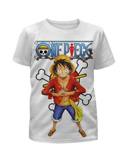 """Футболка с полной запечаткой для девочек """"One Piece"""" - аниме, манга, ван пис, one piece, луффи соломенная шляпа"""