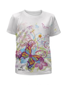 """Футболка с полной запечаткой для девочек """"Бабочка"""" - бабочка, print, стрекоза, koleda17, футболкаспринтом"""