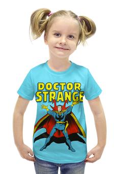 """Футболка с полной запечаткой для девочек """"Доктор Стрэндж """" - комиксы, супегерои, доктор стрэндж, doctor strange"""