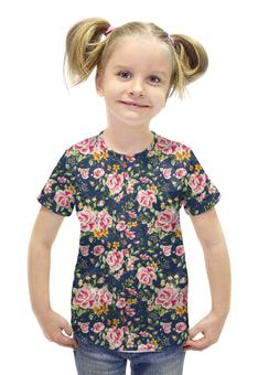 """Футболка с полной запечаткой для девочек """"Peony"""" - любовь, цветы, весна, пионы"""
