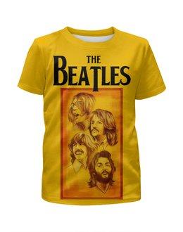 """Футболка с полной запечаткой для девочек """"The Beatles"""" - beatles, the beatles, битлз, рок музыка, рок группа"""