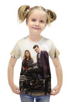 """Футболка с полной запечаткой для девочек """"Доктор Кто"""" - doctor who, tardis, путешествие, тардис"""