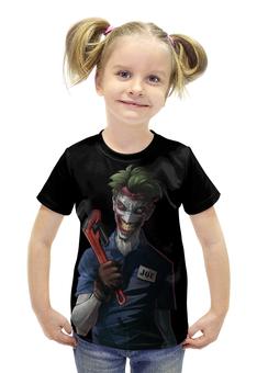 """Футболка с полной запечаткой для девочек """"Джокер"""" - арт, комиксы"""