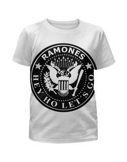 """Футболка с полной запечаткой для девочек """"Ramones"""" - ramones, рамоунз"""
