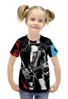 """Футболка с полной запечаткой для девочек """"AC/DC"""" - рок, rock, ac dc, ангус янг"""
