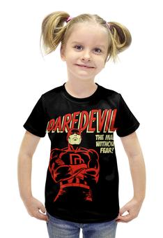 """Футболка с полной запечаткой для девочек """"Сорвиголова"""" - комиксы, супергерои, daredevil, сорвиголова"""