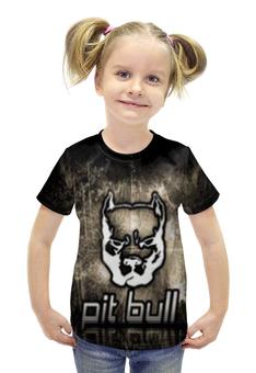 """Футболка с полной запечаткой для девочек """"Pit bull"""" - pitbull"""
