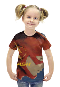 """Футболка с полной запечаткой для девочек """"the flash"""" - принт флэш flash"""