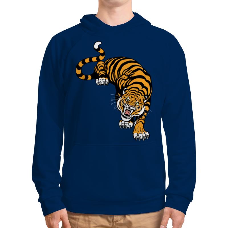 Толстовка с полной запечаткой Printio Свирепый тигр подушка 60х40 с полной запечаткой printio свирепый тигр