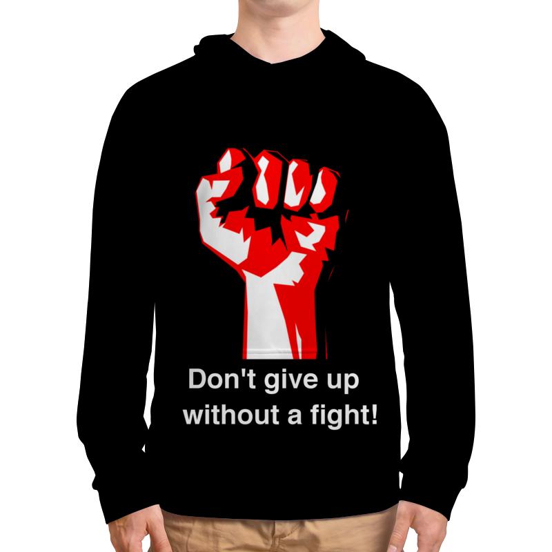 Толстовка с полной запечаткой Printio Don't give up without a fight. бойцовский клуб