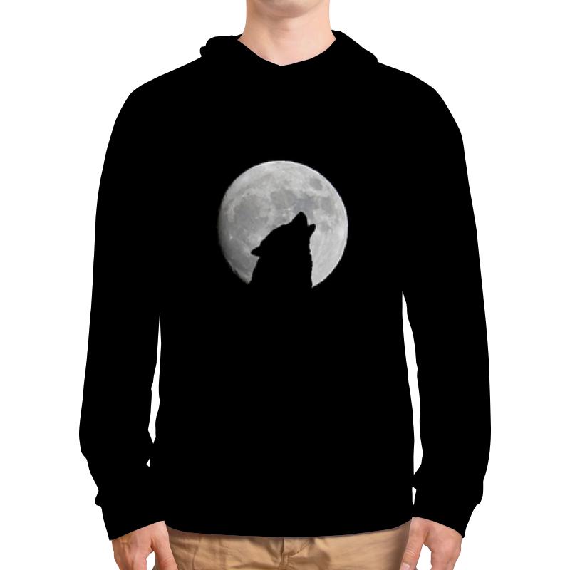 Толстовка с полной запечаткой Printio Волк и луна canis тип 13