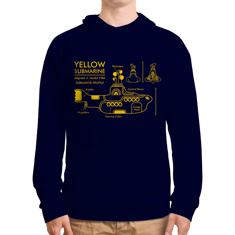 Толстовка с полной запечаткой Printio Yellow submarine магнит the beatles yellow submarine