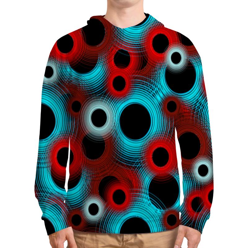 Фото - Толстовка с полной запечаткой Printio Circle concise colour block and circle pattern design men s slippers